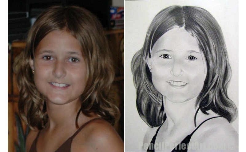 Pencil Drawing- Before and After