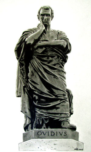 Pencil Drawing of a Staue